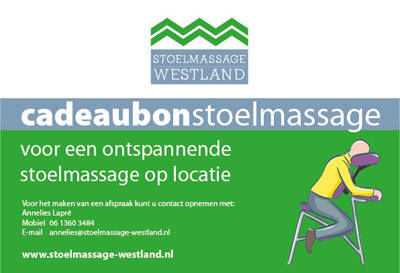 Cadeaubon Stoelmassage Westland