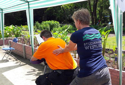 Stoelmassage Westland tijdens evenement